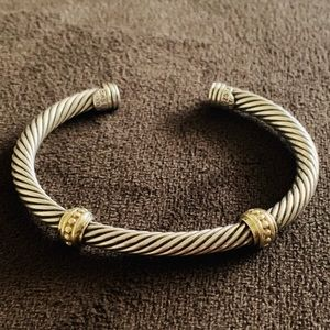 DY David Yurman 14k 585 gold. 925 silver bracelet